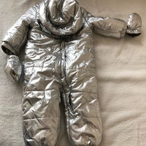Baby boy( girl) silver winter coverall size 12-18
